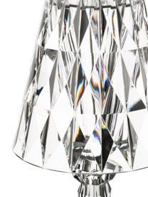 Lampada da tavolo Battery, Paralume: materiale sintetico, Base della lampada: materiale sintetico, Trasparente, Ø 12 x Alt. 26 cm