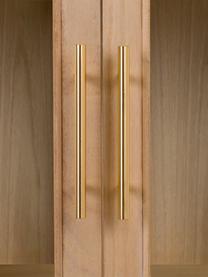 Witryna z drewna Cayetana, Korpus: płyta pilśniowa średniej , Nogi: drewno bambusowe, lakiero, Brązowy, S 72 x W 159 cm