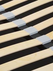 Łóżko tapicerowane z miejscem do przechowywania Star, Korpus: lite drewno sosnowe i pły, Tapicerka: poliester (tkanina strukt, Antracytowy, S 140 x D 200 cm