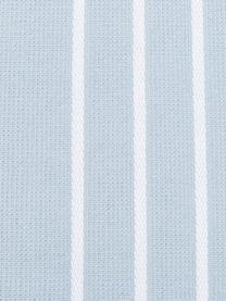 Hamamtuch Freddy mit Fransen und Frottee-Rückseite, Rückseite: Frottee, Hellblau, 100 x 180 cm