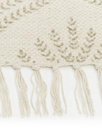 Flachgewebter Baumwollteppich Klara in Beige/Taupe mit Fransenabschluss, Beige, B 50 x L 80 cm (Größe XXS)