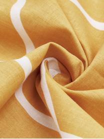 Baumwoll-Bettwäsche Mirja mit grafischem Muster, Webart: Renforcé Fadendichte 144 , Gelb, Weiß, 135 x 200 cm + 1 Kissen 80 x 80 cm
