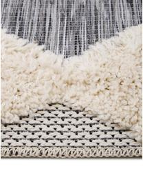 In- & Outdoor-Teppich Tiddas mit Hoch-Tief-Effekt in Grau-Creme, Flor: 100% Polypropylen, Creme, Grau, B 195 x L 290 cm (Größe L)