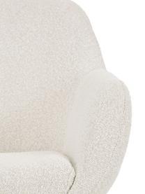 Fauteuil Jana, Bekleding: polyester (teddyvacht), Poten: gepoedercoat metaal, Teddy crèmewit, B 72 x D 68 cm