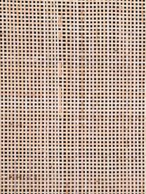 Mangoholz-Sideboard Larry mit Geflecht, Korpus: Mangoholz, Beine: Metall, lackiert, Braun, 145 x 80 cm