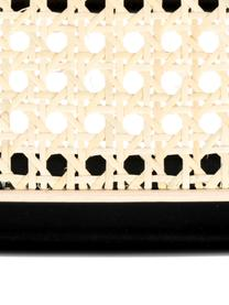 Stołek barowy z plecionką wiedeńską Jort, Nogi: stal malowana proszkowo Z, Czarny, S 47 x W 106 cm