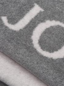 Weiche Fleecedecke Uni Doubleface in Grau/Weiß, 58%Baumwolle, 35%Polyacryl, 7%Polyester, Grau, Weiß, 150 x 200 cm