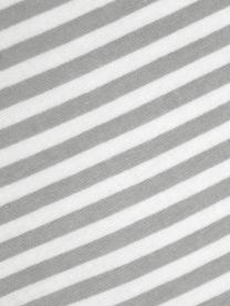 Flanell-Wendebettwäsche Dora, gestreift, Webart: Flanell Flanell ist ein k, Weiß, Grau, 135 x 200 cm + 1 Kissen 80 x 80 cm