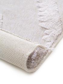 Waschbarer Baumwollteppich Oslo mit Hoch-Tief-Struktur, 100% Baumwolle, Cremeweiß, Beige, B 190 x L 280 cm (Größe M)