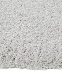 Pluizig hoogpolig vloerkleed Leighton in lichtgrijs, Bovenzijde: 100% polyester (microveze, Onderzijde: 70% polyester, 30% katoen, Lichtgrijs, B 80 x L 150 cm (maat XS)