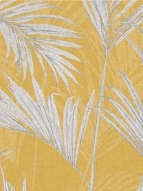Tapete Palm Springs, Beschichtung: Vinyl, Senfgelb, Gelb, Grau, 53 x 1005 cm