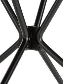 Tavolo rotondo con gambe a cavalletto XZ3, Piano d'appoggio: fibra di media densità co, Gambe: filo di acciaio verniciat, Nero, Ø 120 x Alt. 74 cm