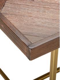 Fischgrät-Esstisch Class mit Akazienholzfurnier, Tischplatte: Mitteldichte Holzfaserpla, Braun, B 220 x T 90 cm