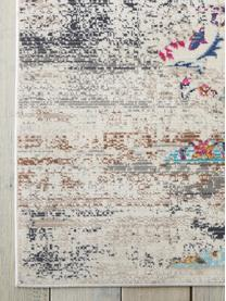 Passatoia a pelo corto Kashan, Retro: Latex, Beige, multicolore, Larg. 70 x Lung. 245 cm