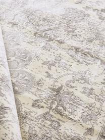 Viskoseteppich Tortona im Vintage Style, 70% Viskose, 30% Baumwolle, Silbergrau, Cremefarben, B 140 x L 200 cm (Größe S)