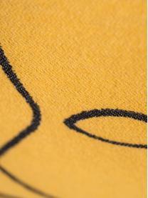 Housse de coussin 50x50 jaune Nova Face, Jaune