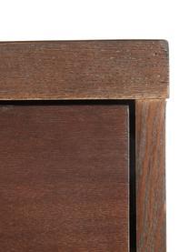 Scrivania a spina di pesce con cassetti  Classe, Legno d'acacia, ottonato, Larg. 120 x Prof. 45 cm