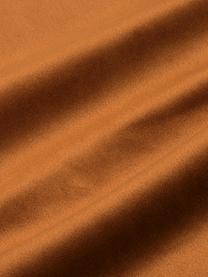Housse de coussin en velours brodé Legong, Orange, couleur dorée