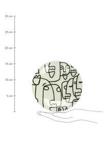Talerz deserowy Modiglia, 2 szt., Kamionka, Kremowobiały, czarny, Ø 16 cm
