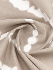 Perkal-Wendebettwäsche Remi aus Bio-Baumwolle mit Tie-Dye-Print, Webart: Perkal Fadendichte 180 TC, Beige, Weiß, 240 x 220 cm + 2 Kissen 80 x 80 cm