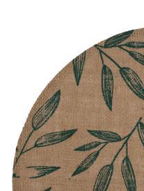 Placemats Pep, 2 stuks, Jute, Beige, groen, 40 x 40 cm