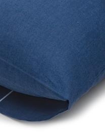 Dubbelzijdig beddengoed Meraki, Katoen, Donkerblauw, lichtblauw, wit, 240 x 220 cm