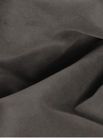 Divano 3 posti in velluto marrone grigio Moby, Rivestimento: velluto (copertura in pol, Struttura: legno di pino massiccio, Piedini: metallo verniciato a polv, Velluto grigio marrone, Larg. 220 x Prof. 95 cm
