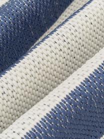 Chodnik wewnętrzny/zewnętrzny Axa, 86% polipropylen, 14% poliester, Kremowobiały, niebieski, S 80 x D 250 cm