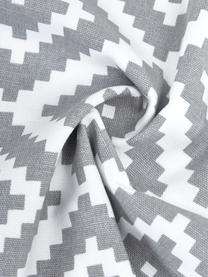 Kissenhülle Miami in Hellgrau/Weiß, 100% Baumwolle, Grau, 45 x 45 cm