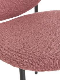Chaise capitonnée tissu bouclé Ulrica, 2pièces, Rose