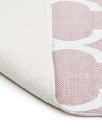 Flachgewebter Baumwollteppich Amira in Rosa/Weiß, 100% Baumwolle, Rosa, Cremeweiß, B 200 x L 300 cm (Größe L)
