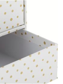 Bureau organizer Birger, Organizer: massief, gelamineerd kart, Wit, goudkleurig, 33 x 15 cm