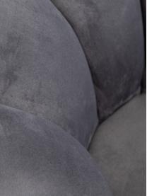 Fotel koktajlowy z aksamitu Coco, Tapicerka: aksamit (100% poliester), Stelaż: drewno naturalne, Noga: drewno naturalne, tapicer, Szary, S 98 x G 100 cm