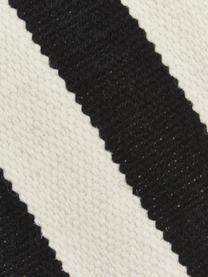 Handgewebter Kelim-Teppich Donna mit Streifen, Flor: 80% Wolle, 20% Nylon, Schwarz, B 80 x L 150 cm (Größe XS)