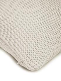 Federa arredo fatta a maglia bianca Adalyn, 100% cotone, Bianco naturale, Larg. 30 x Lung. 50 cm
