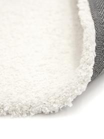 Tappeto peloso morbido color crema Leighton, Retro: 70% poliestere, 30% coton, Crema, Larg. 80 x Lung. 150 cm (taglia XS)