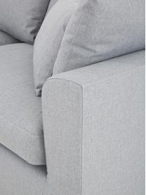 Großes Ecksofa Zach in Grau, Bezug: Polypropylen Der hochwert, Füße: Kunststoff, Webstoff Grau, B 300 x T 213 cm