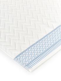 Badetuch Karma mit Hoch-Tief-Muster, Weiß, Blau, Badetuch
