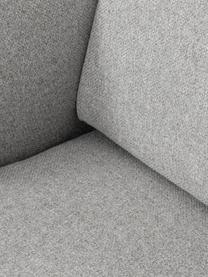 Ecksofa Fluente in Hellgrau mit Metall-Füßen, Bezug: 80% Polyester, 20% Ramie , Gestell: Massives Kiefernholz, Füße: Metall, pulverbeschichtet, Webstoff Hellgrau, B 221 x T 200 cm