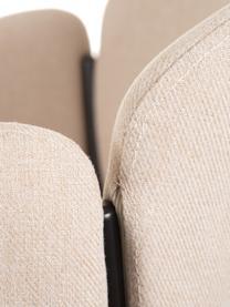 Beiger Polsterstuhl Malingu, Bezug: 95% Polyester, 5% Baumwol, Gestell: Metall, lackiert, Beige, B 60 x T 60 cm
