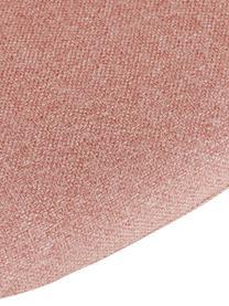 Armlehnstuhl Fiji mit Holzbeinen, Bezug: Polyester 40.000 scheuert, Beine: Massives Eichenholz, Webstoff Rosa, Beine Eiche, B 59 x T 55 cm