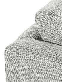 Poltrona classica in tessuto grigio Milo, Rivestimento: copertura in poliestere d, Struttura: legno di pino, Gambe: metallo, verniciato, Tessuto grigio, Larg. 77 x Alt. 75 cm