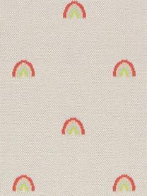 Plaid Rainbow aus Bio-Baumwolle, 100% Biobaumwolle, Hellbeige, Orange, Blau, Rot, Gelb, 76 x 100 cm
