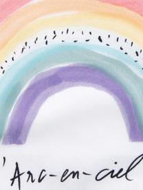 Federa arredo design Kera Till Rainbow, Cotone, Bianco, multicolore, Larg. 40 x Lung. 40 cm