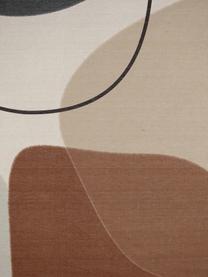 Dekoracja ścienna Abby, Płótno, tworzywo sztuczne, Biały, brązowy, beżowy, czarny, S 105 x W 136 cm