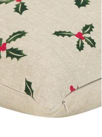 Funda de cojín Berry, 100%algodón, Beige, verde, An 45 x L 45 cm
