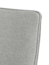 Gepolsteter Drehstuhl Alison, Bezug: Polyester Der hochwertige, Beine: Metall, pulverbeschichtet, Hellgrau, Schwarz, B 51 x T 57 cm