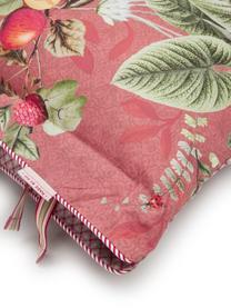 Baumwollperkal-Wendebettwäsche Fall in Leaf mit dekorativen Schleifen, floral/gemustert, Webart: Perkal Fadendichte 200 TC, Rosa, Mehrfarbig, 200 x 200 cm + 2 Kissen 80 x 80 cm
