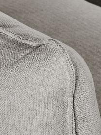Divano 3 posti in tessuto greige Tribeca, Rivestimento: poliestere Il rivestiment, Struttura: legno di pino massiccio, Piedini: legno massiccio di faggio, Tessuto grigio beige, Larg. 228 x Prof. 104 cm