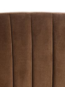 Samt-Polsterstuhl Room in Braun, Bezug: 100% Polyestersamt, Gestell: Metall, beschichtet, Braun, B 53 x T 58 cm